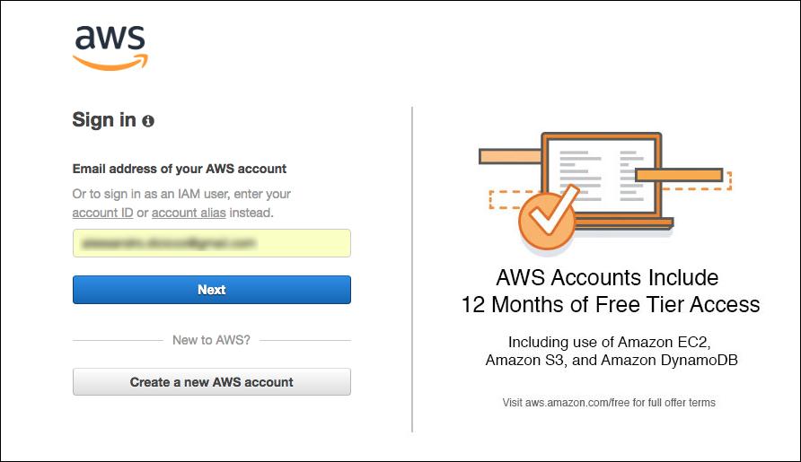 AWS Amazon Web Services - Accesso