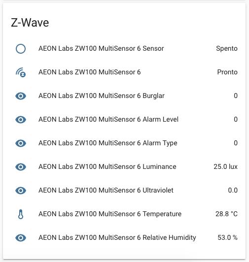 Aeotec Multisensor Gen6 - Entità