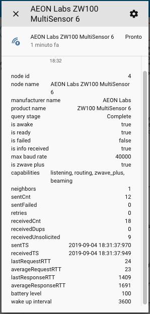 Aeotech Multisensor 6 Gen5 - Attributi