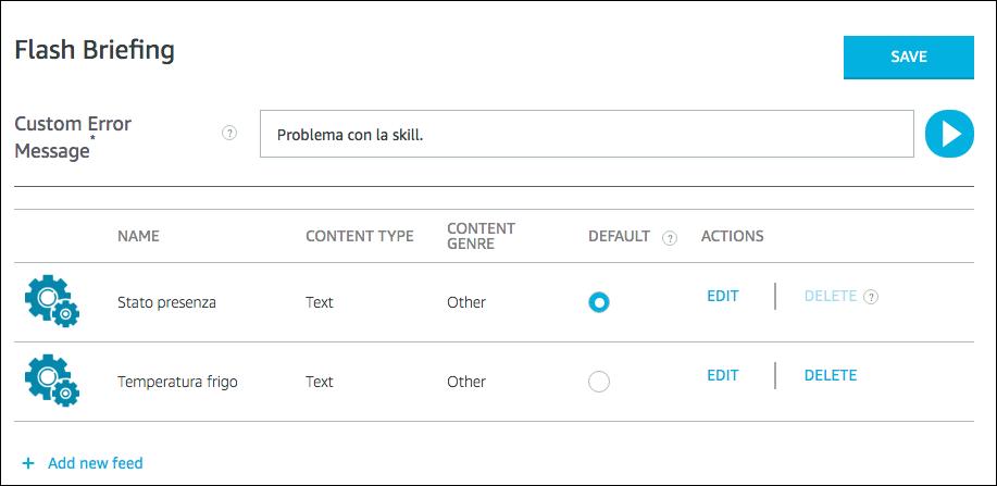 Alexa Flash Briefing - step 4