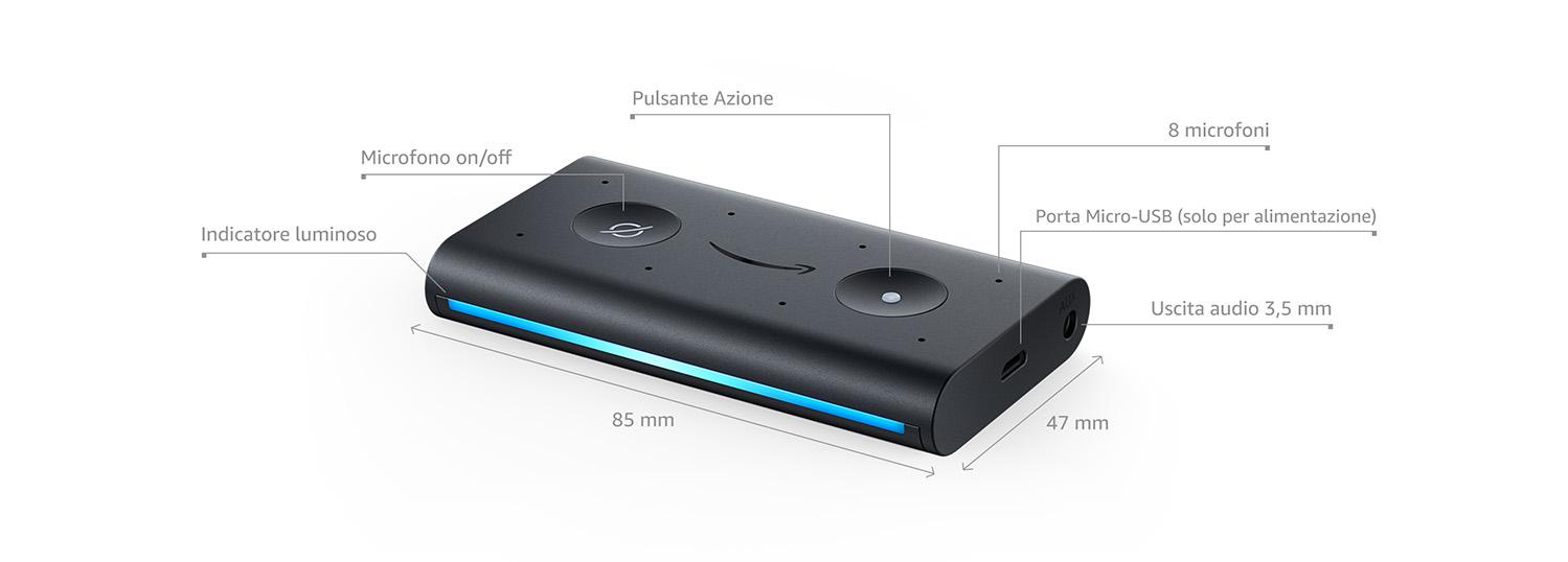 Amazon Echo Auto - Dettagli tecnici