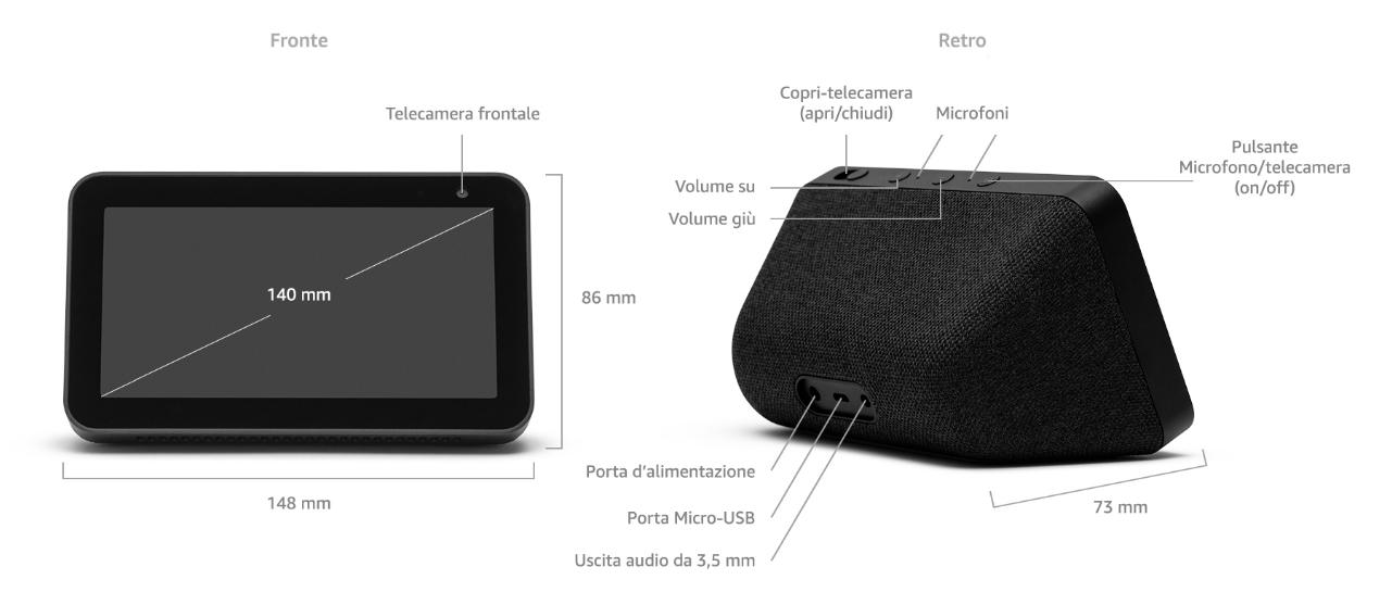 Amazon Echo Show 5 - Dettagli tecnici