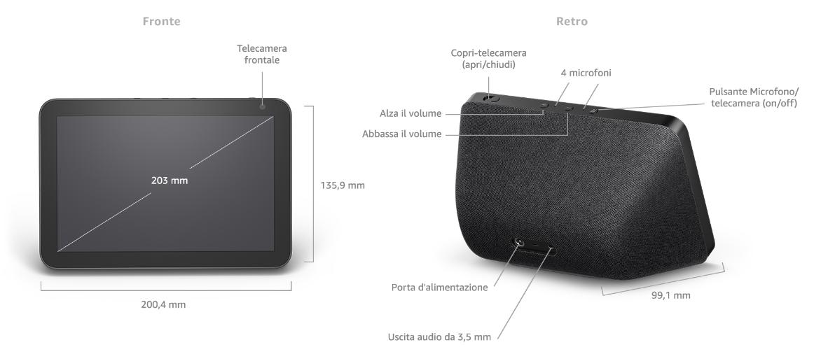 Amazon Echo Show 8 - Dettagli tecnici