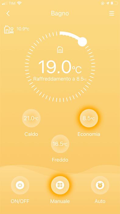 App Meross - Controllo testa termostatica