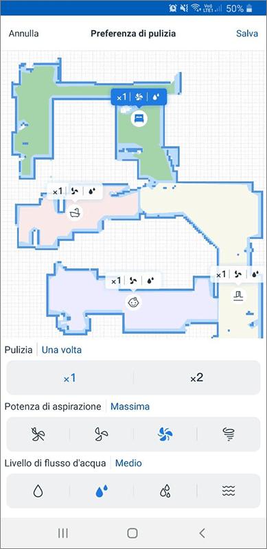 ECOVACS Home - Preferenze di pulizie N8