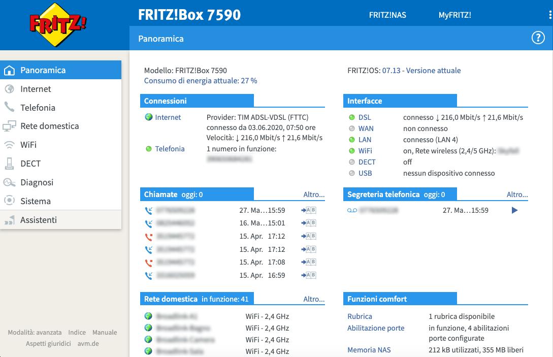 FRITZ!Box 7590 - FRITZ!OS - Panoramica