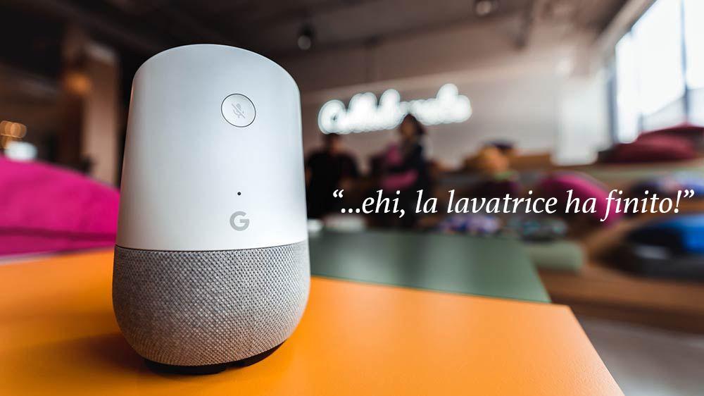 Google Home parla