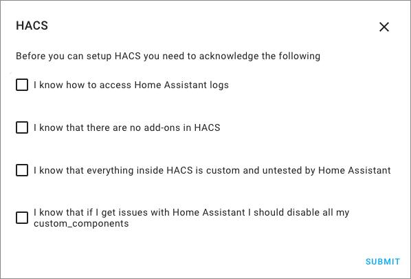 HACS - Integrazione - 1