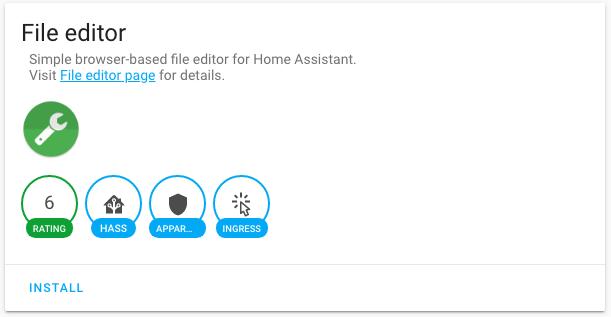 HASSIO - File Editor (Configurator)