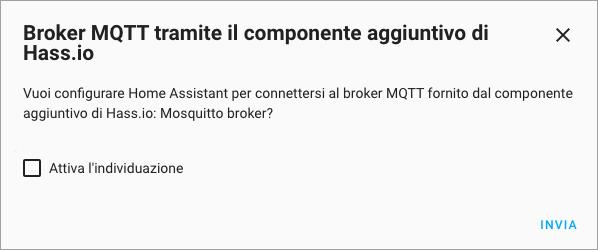 HASSIO - Integrazione Eclipse MQTT Broker - Configura