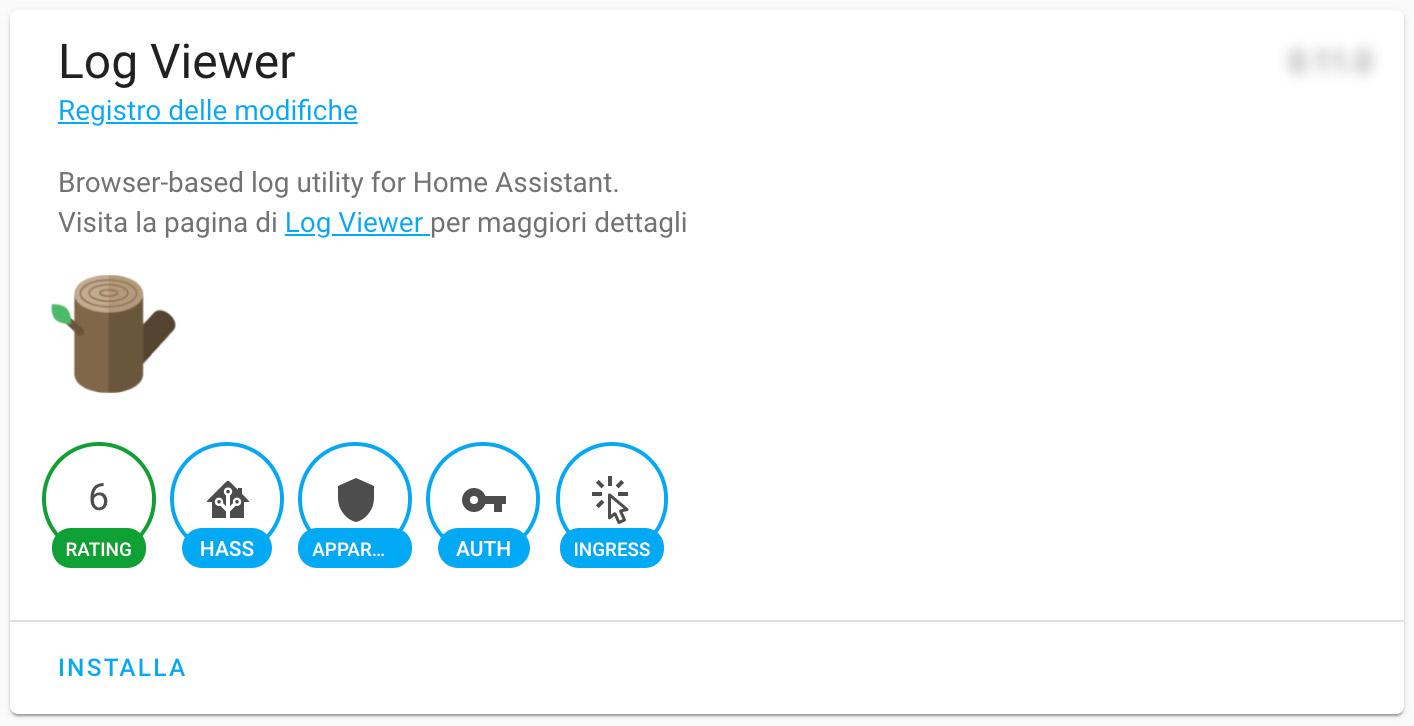 HASSIO - Log Viewer - add-on
