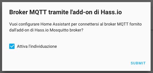 HASSIO - Mosquitto Broker - Integrazione HASSIO