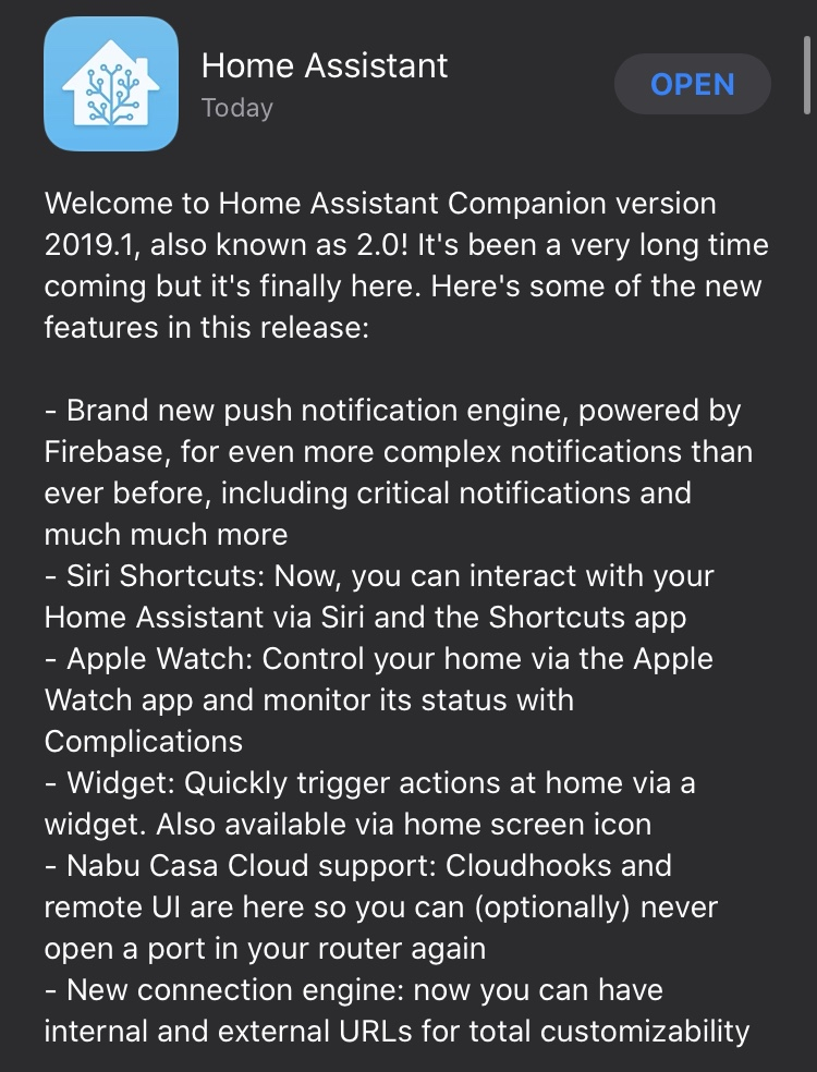 Home Assistant Companion 2.0 per iOS - Release notes