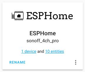 Home Assistant - ESPHome - Integrazione