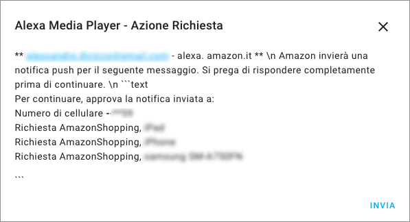 Home Assistant - Integrazione Alexa Media Player - Step 3a