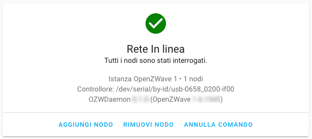 Home Assistant - Integrazione OpenZWave - Fail