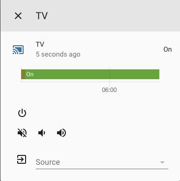 Home Assistant - Media Player - Dettaglio TV