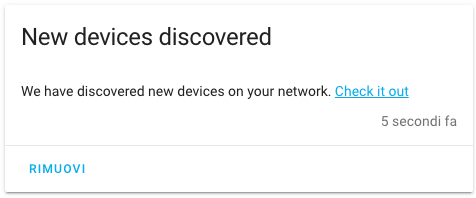 Home Assistant - New Device Dicovered