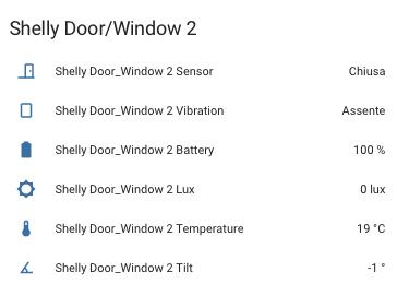 Home Assistant - Shelly Door Window