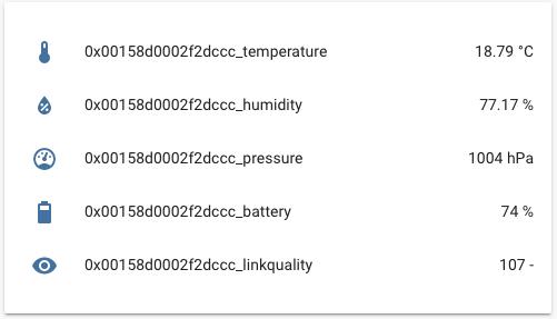 Home Assistant - Xiaomi sensore di temperatura via zigbee2mqtt