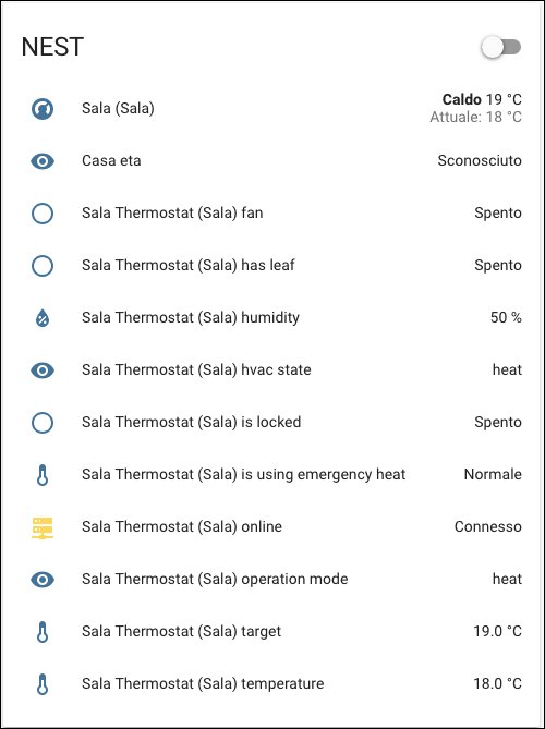 Home Assistant - integrazione NEST Learning Thermostat