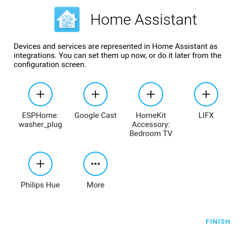 Home Assistant - onboarding - discovery