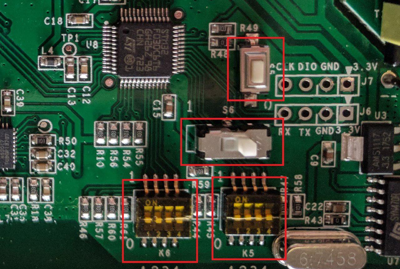 ITEAD Sonoff 4Ch PRO R2 - DIP Switch