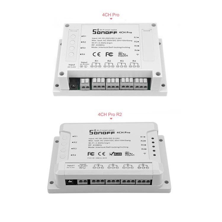 ITEAD Sonoff 4ch PRO - R1 vs R2