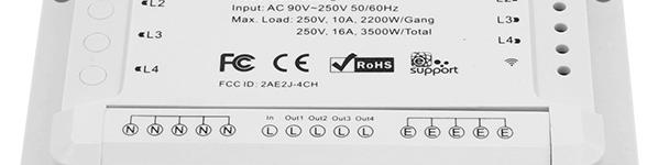 Recensione: ITEAD Sonoff 4ch – 4ch PRO (R1 e R2)