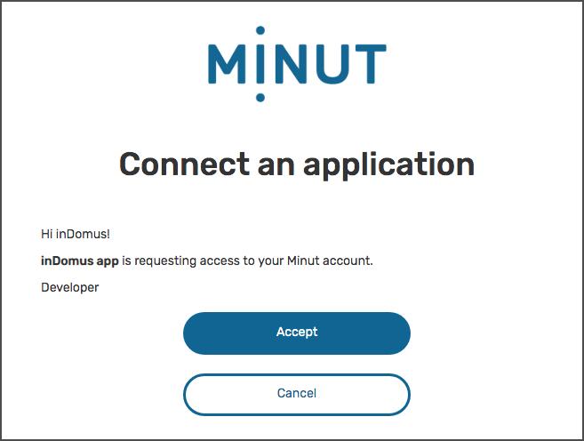 Minut Point Clound - Authorization