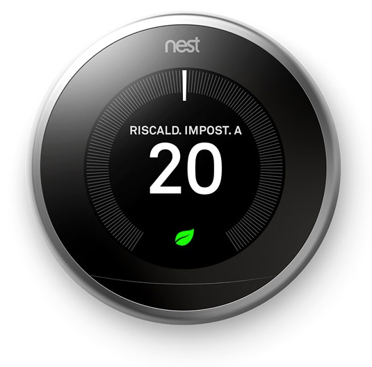 NEST Learning Thermostat V3 - Frontale