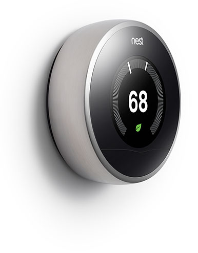 NEST Learning Thermostat V3 - Laterale