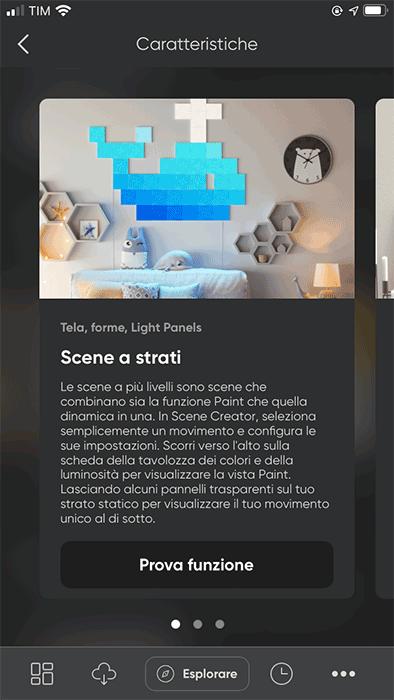 Nanoleaf - App - Scene a strati