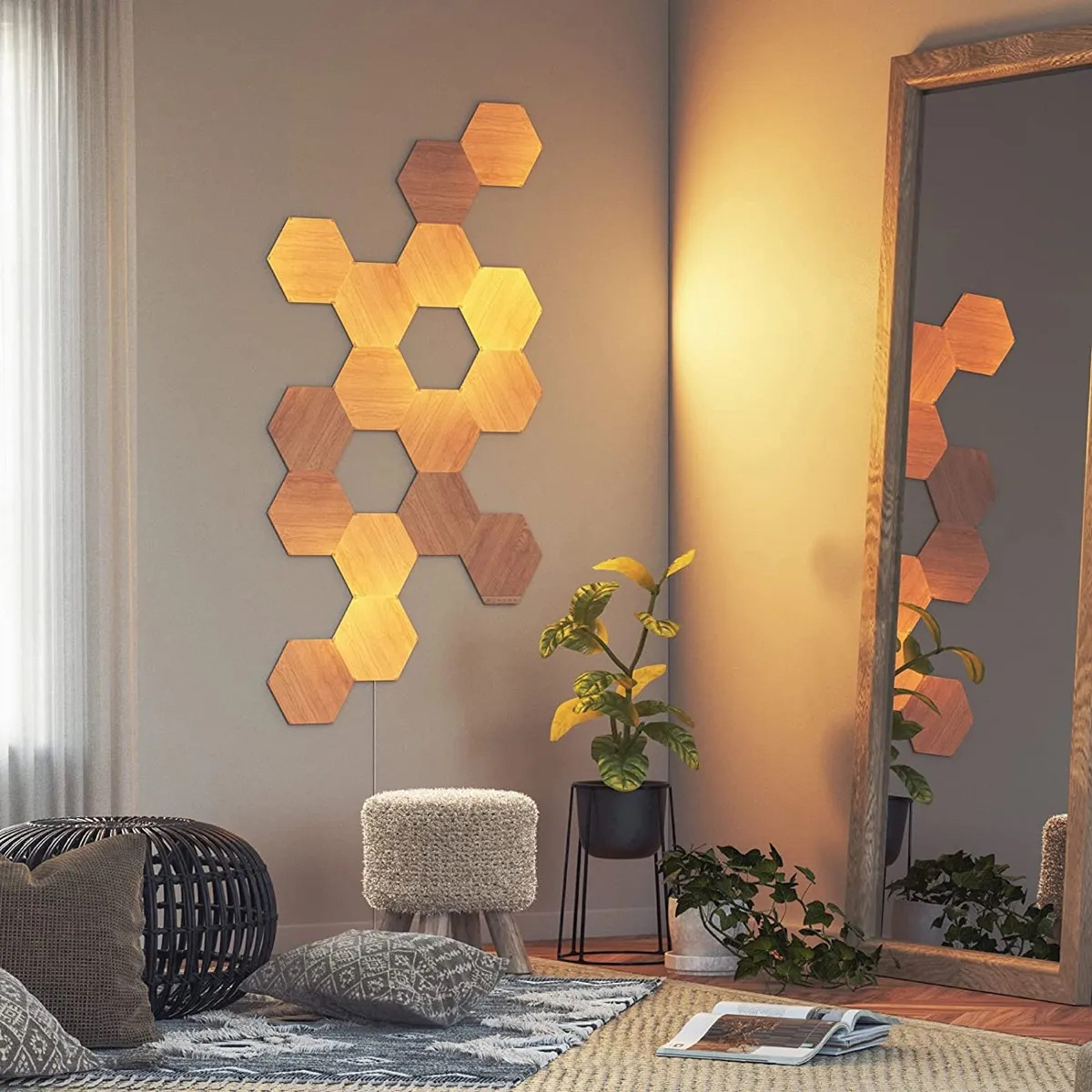 Nanoleaf Hexagons Legno - Lifestyle 2