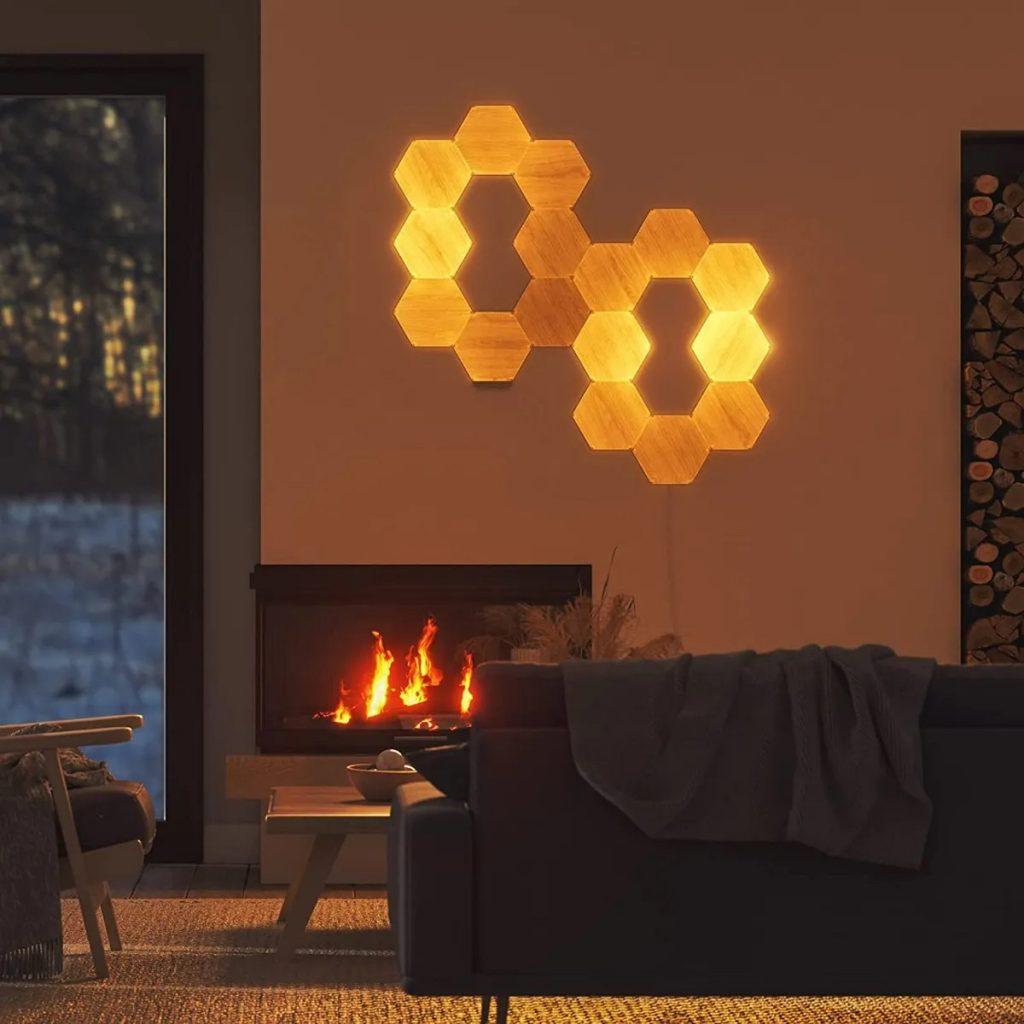 Nanoleaf Hexagons Legno - Lifestyle 3