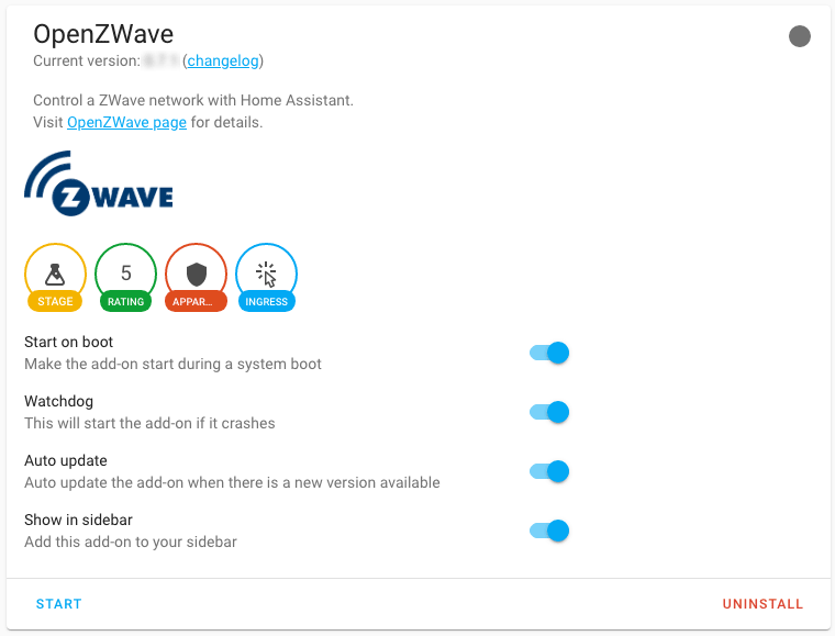 OpenZWave HASSIO add-on