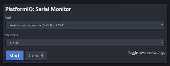 PlatformIO Serial Monitor