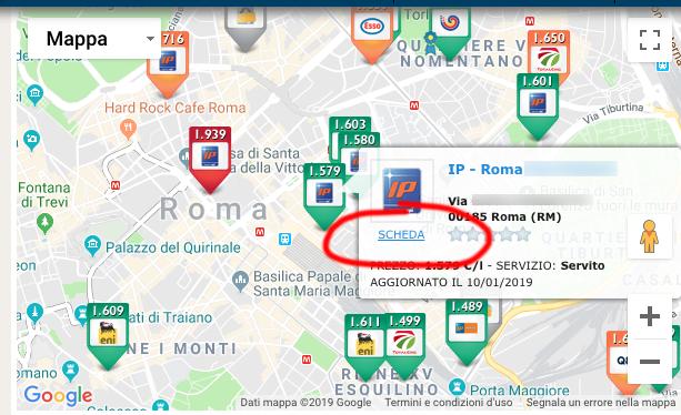 Prezzi Benzina mappa