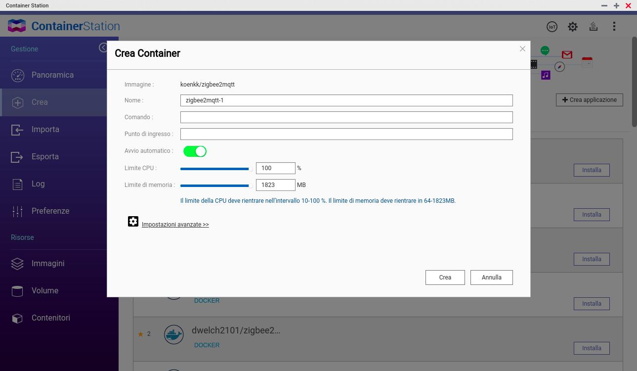QNAP - FileStation - ZigBee2MQTT Docker - 2