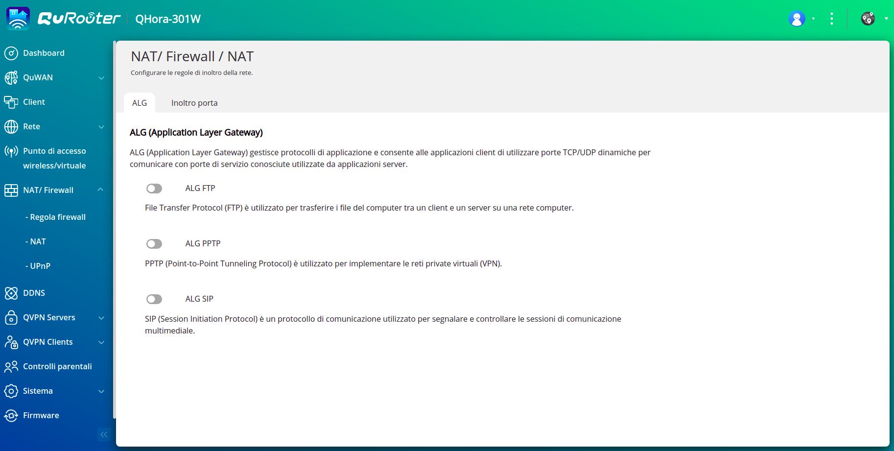 QNAP QHORA 301W - NAT - Firewall 2