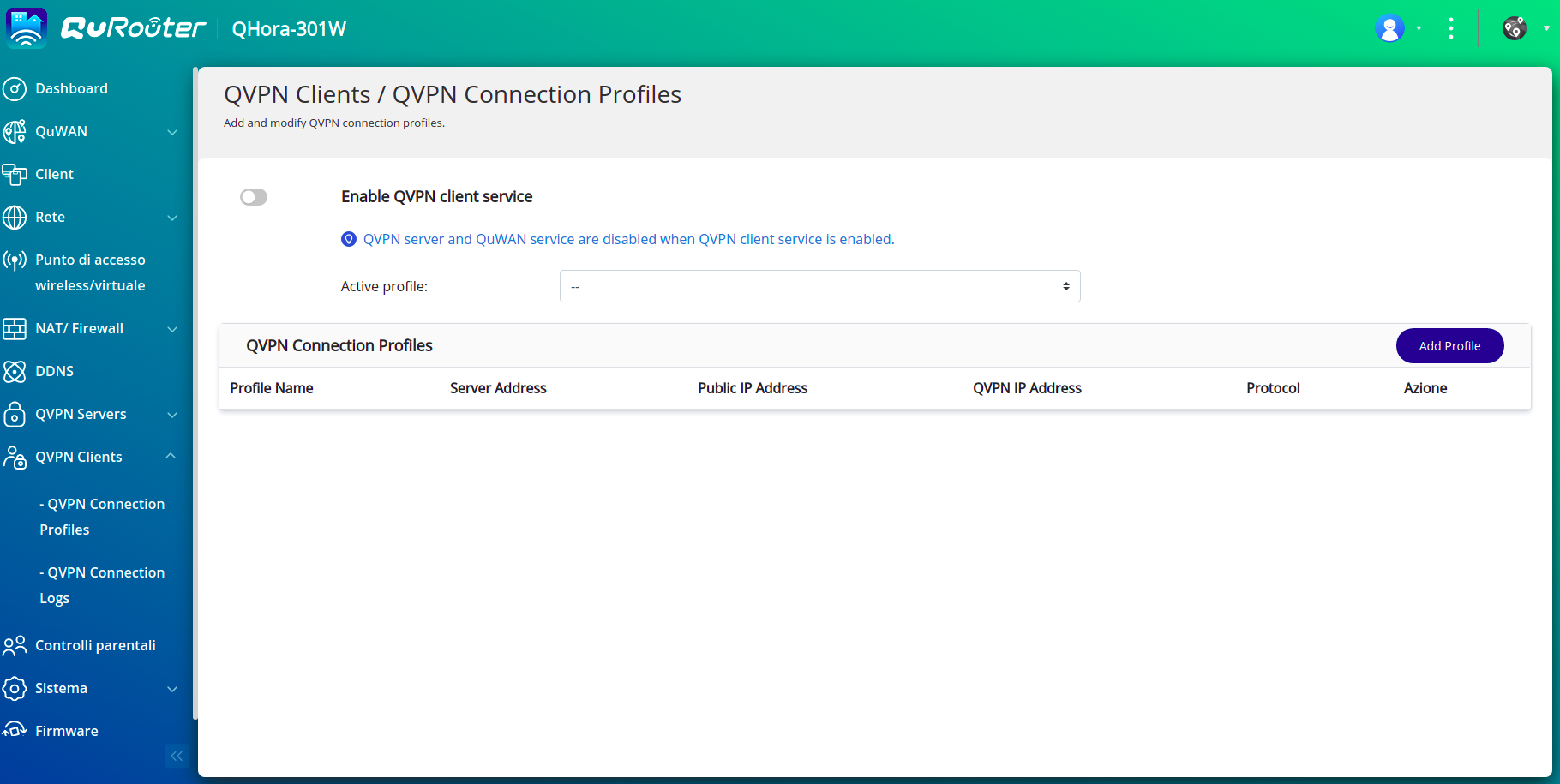 QNAP QHORA 301W - Rete Wireless - QVPN 2
