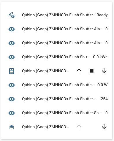 Qubino Flush Shitter - Integrazione Home Assistant - Entità