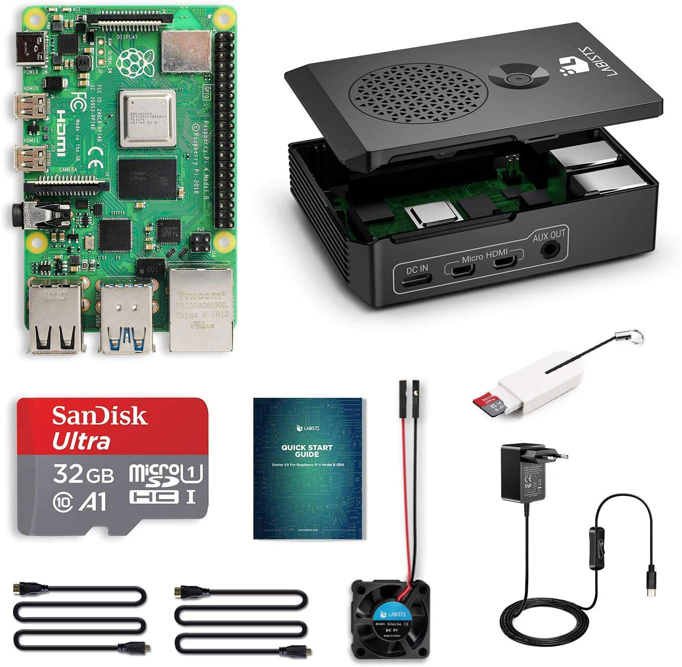 Raspberry Pi 4 Starter Kit 32GB 4GB