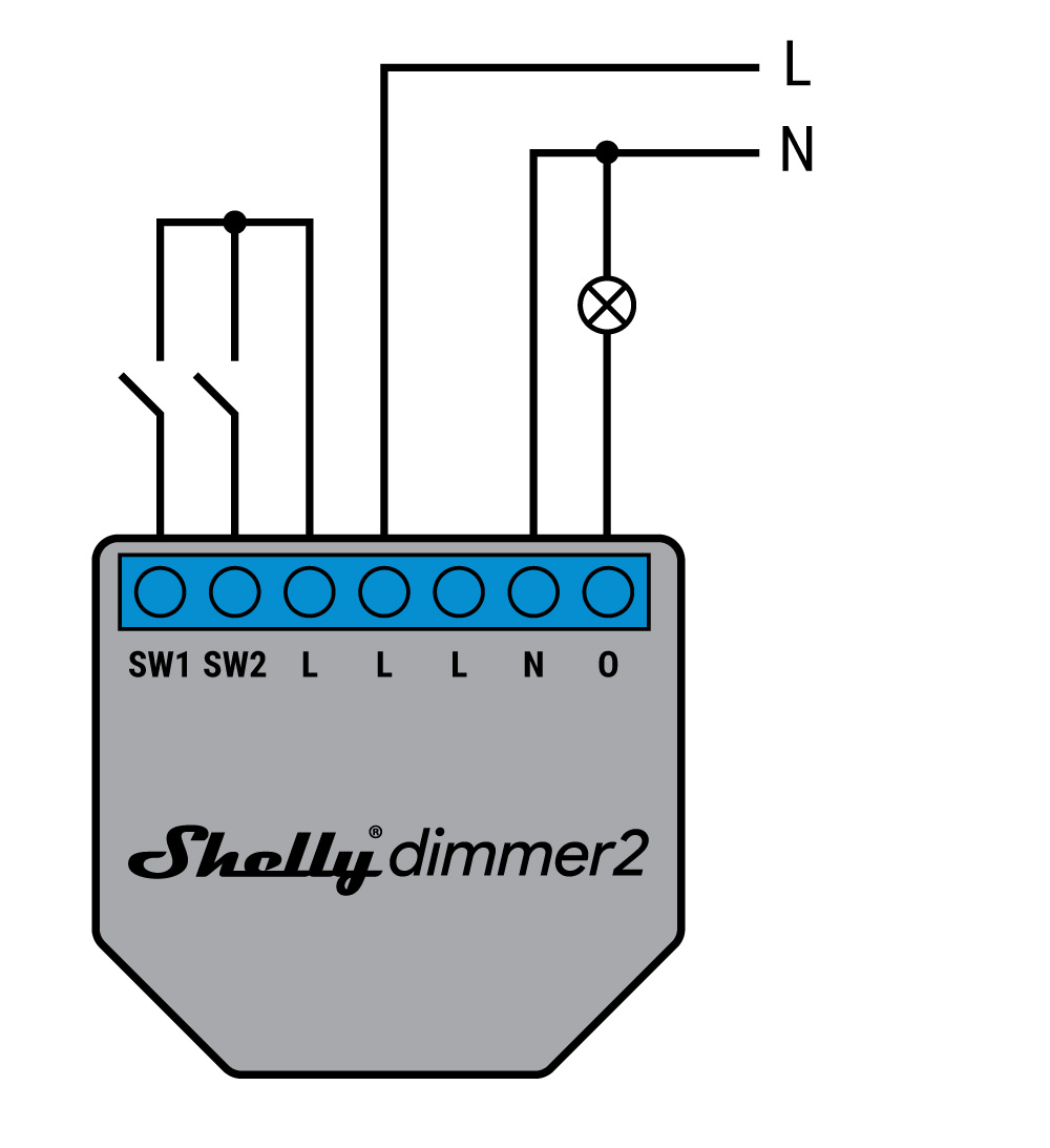 Shelly Dimmer 2 - schema di connessione - 1