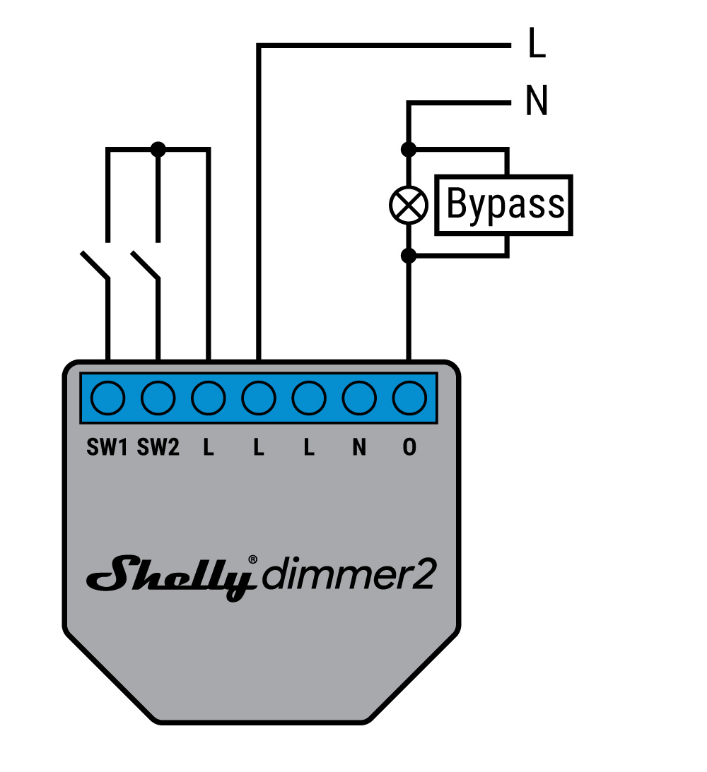 Shelly Dimmer 2 - schema di connessione - 2