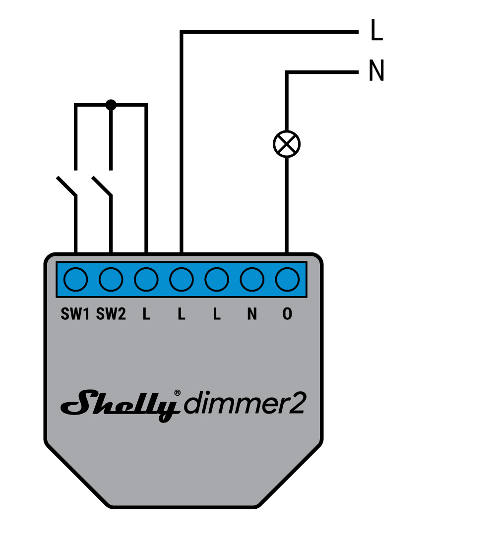 Shelly Dimmer 2 - schema di connessione - 3