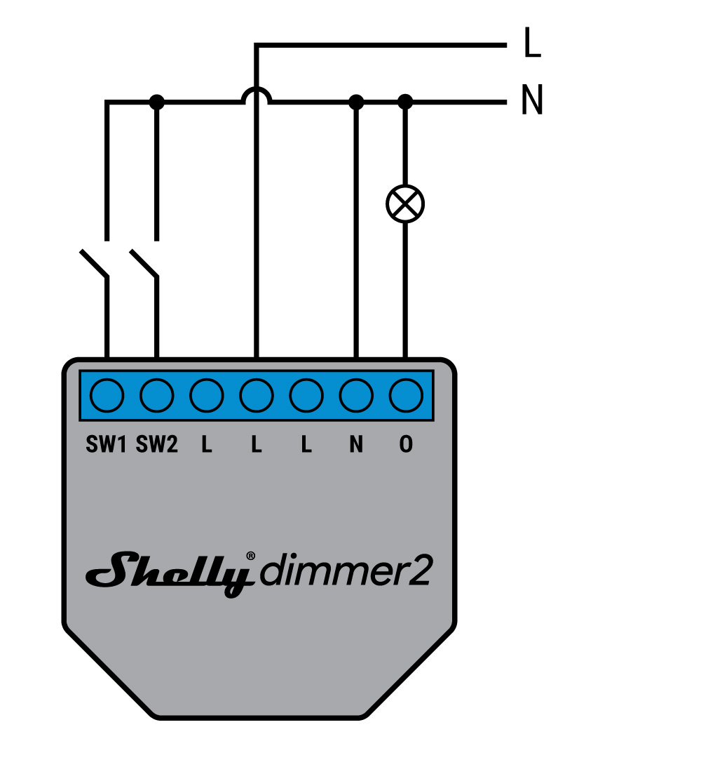 Shelly Dimmer 2 - schema di connessione - 4