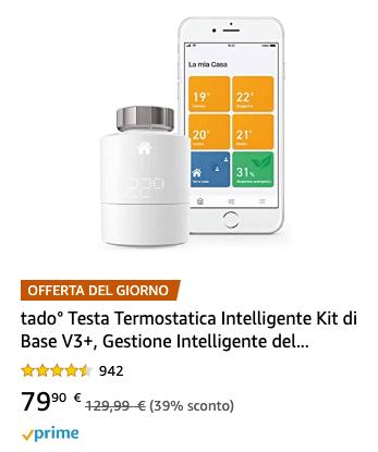 Tado° Testa Termostatica Intelligente Kit di Base V3+ - lampo 20200623