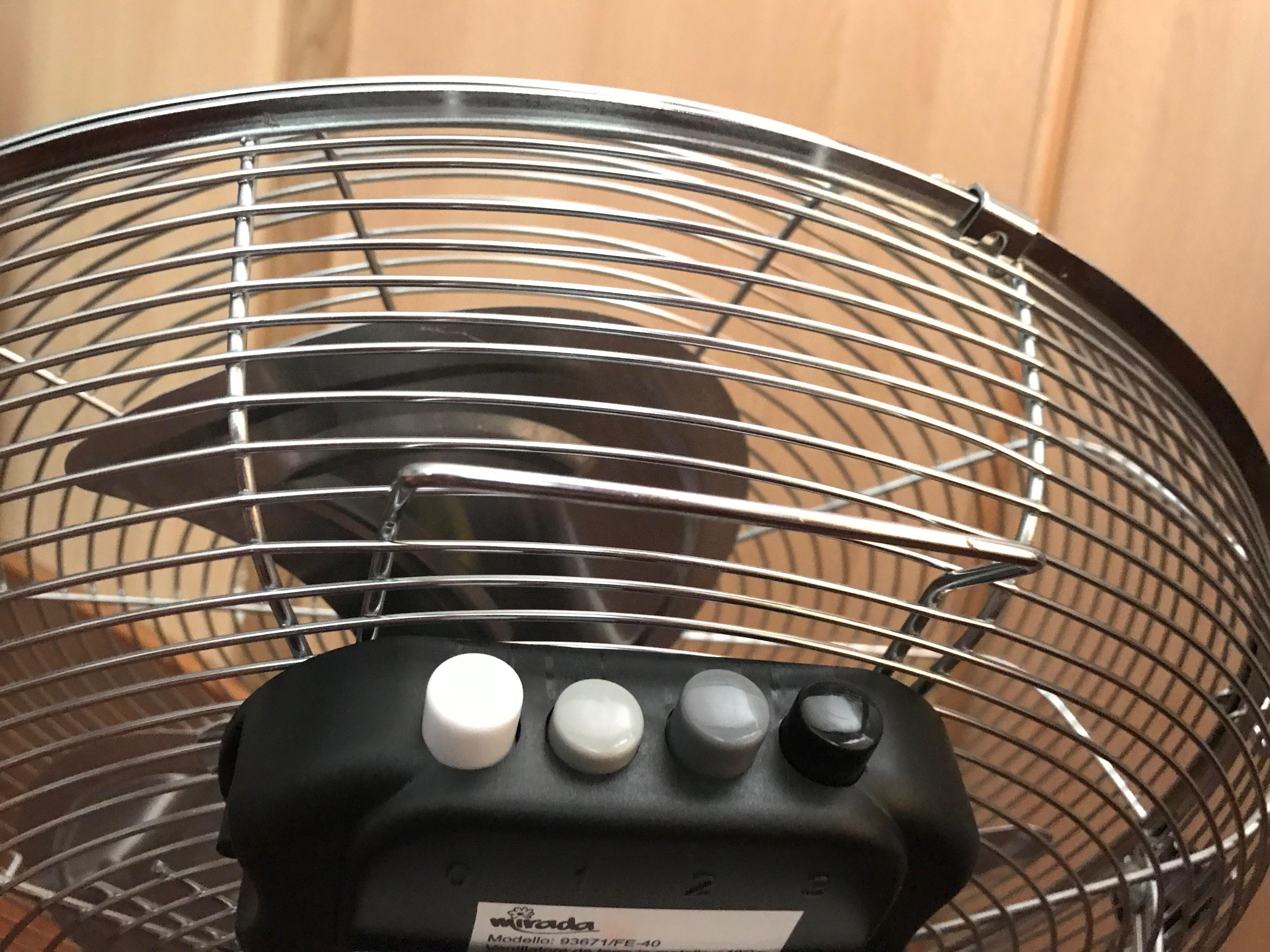 Ventilatore da terra - Dettaglio pulsantiera