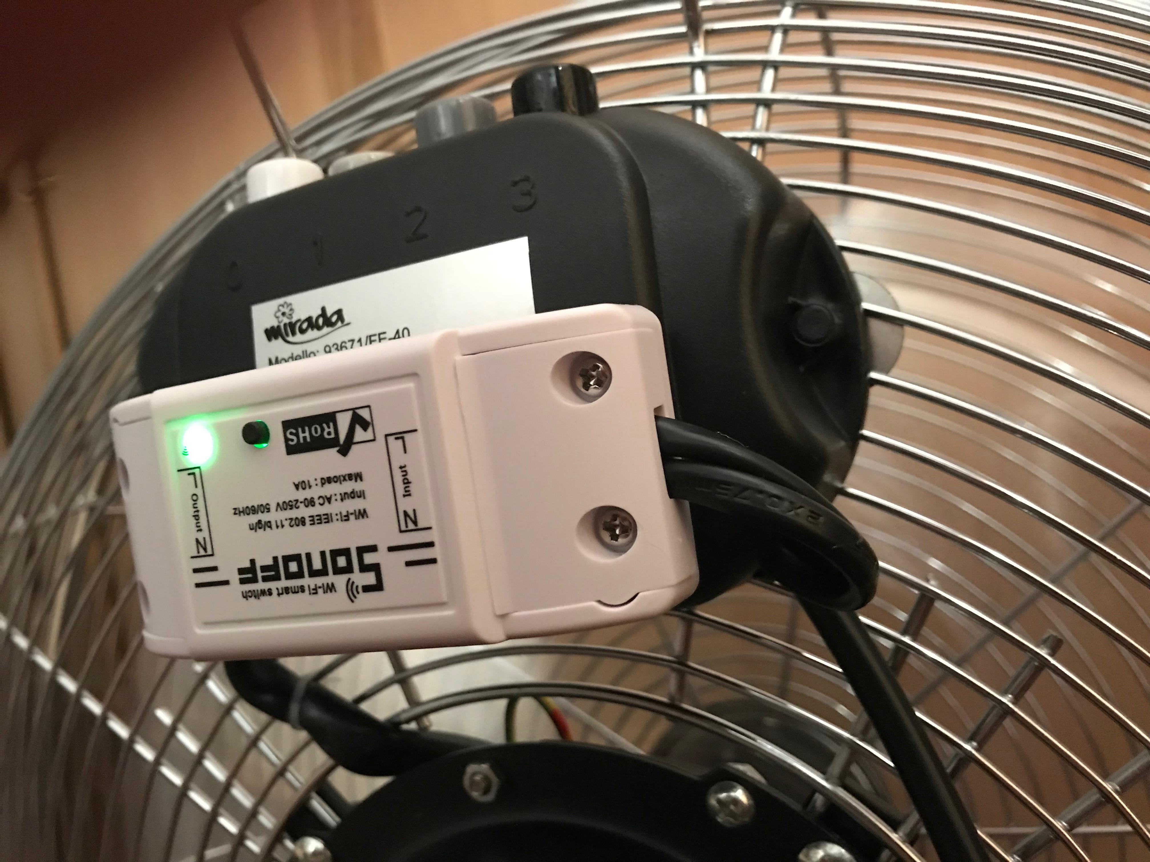 Ventilatore da terra con Sonoff Basic